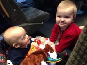 William hittade en flickvän på tåget.